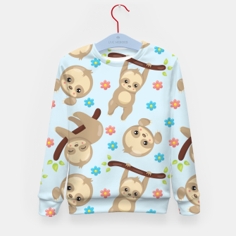 Cute Sloth With Branch Kid's sweater thumbnail image