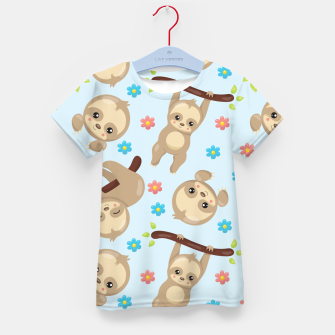 Cute Sloth With Branch Kid's t-shirt thumbnail image