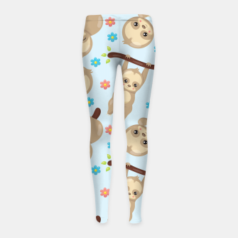 Thumbnail image of Cute Sloth With Branch Girl's leggings, Live Heroes