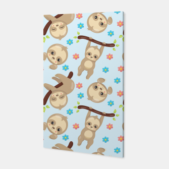 Thumbnail image of Cute Sloth With Branch Canvas, Live Heroes