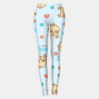 Thumbnail image of Cute Sloth Love Sleeping Leggings, Live Heroes