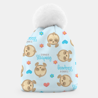 Thumbnail image of Cute Sloth Love Sleeping Beanie, Live Heroes