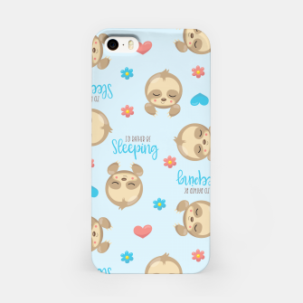 Thumbnail image of Cute Sloth Love Sleeping iPhone Case, Live Heroes