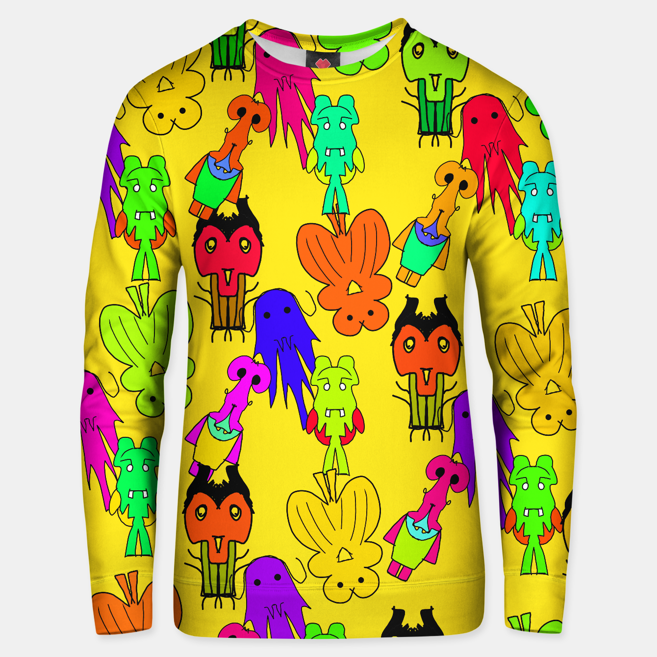 Image of Yellow Clown Sweater - Live Heroes