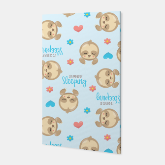 Thumbnail image of Cute Sloth Love Sleeping Canvas, Live Heroes