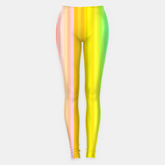 Miniatur Bright Yellow Line legging, Live Heroes