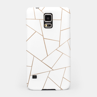 Thumbnail image of Rose Gold White Geometric Glam #1 #geo #decor #art  Handyhülle für Samsung, Live Heroes