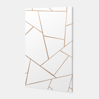 Thumbnail image of Rose Gold White Geometric Glam #1 #geo #decor #art  Canvas, Live Heroes