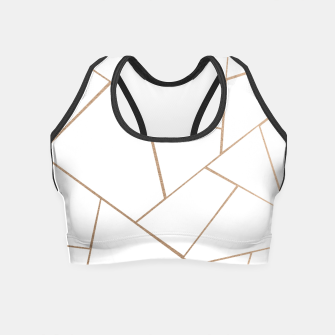 Thumbnail image of Rose Gold White Geometric Glam #1 #geo #decor #art  Crop Top, Live Heroes