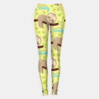 Cute Sloth Do It Slowly Leggings thumbnail image