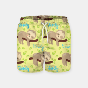 Cute Sloth Do It Slowly Swim Shorts thumbnail image