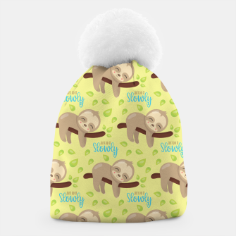 Thumbnail image of Cute Sloth Do It Slowly Beanie, Live Heroes