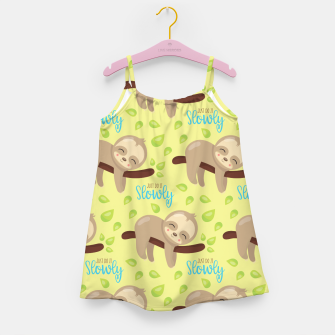 Thumbnail image of Cute Sloth Do It Slowly Girl's dress, Live Heroes