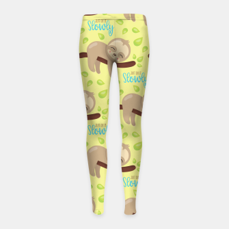 Thumbnail image of Cute Sloth Do It Slowly Girl's leggings, Live Heroes