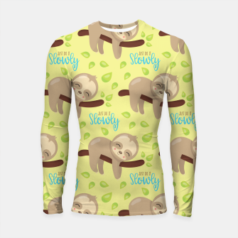 Cute Sloth Do It Slowly Longsleeve rashguard  thumbnail image