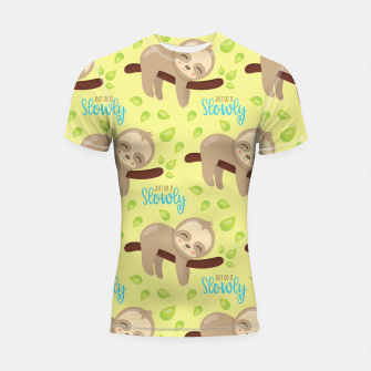 Thumbnail image of Cute Sloth Do It Slowly Shortsleeve rashguard, Live Heroes