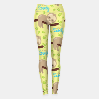 Thumbnail image of Cute Sloth Do It Slowly Leggings, Live Heroes