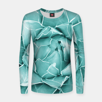 Thumbnail image of Agave Queen Succulent #2 #tropical #decor #art  Frauen sweatshirt, Live Heroes