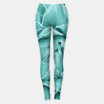 Thumbnail image of Agave Queen Succulent #2 #tropical #decor #art  Leggings, Live Heroes