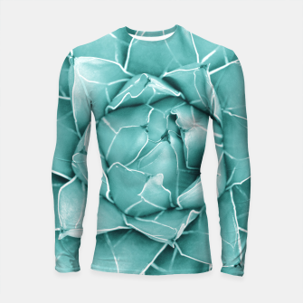 Thumbnail image of Agave Queen Succulent #2 #tropical #decor #art  Longsleeve rashguard, Live Heroes