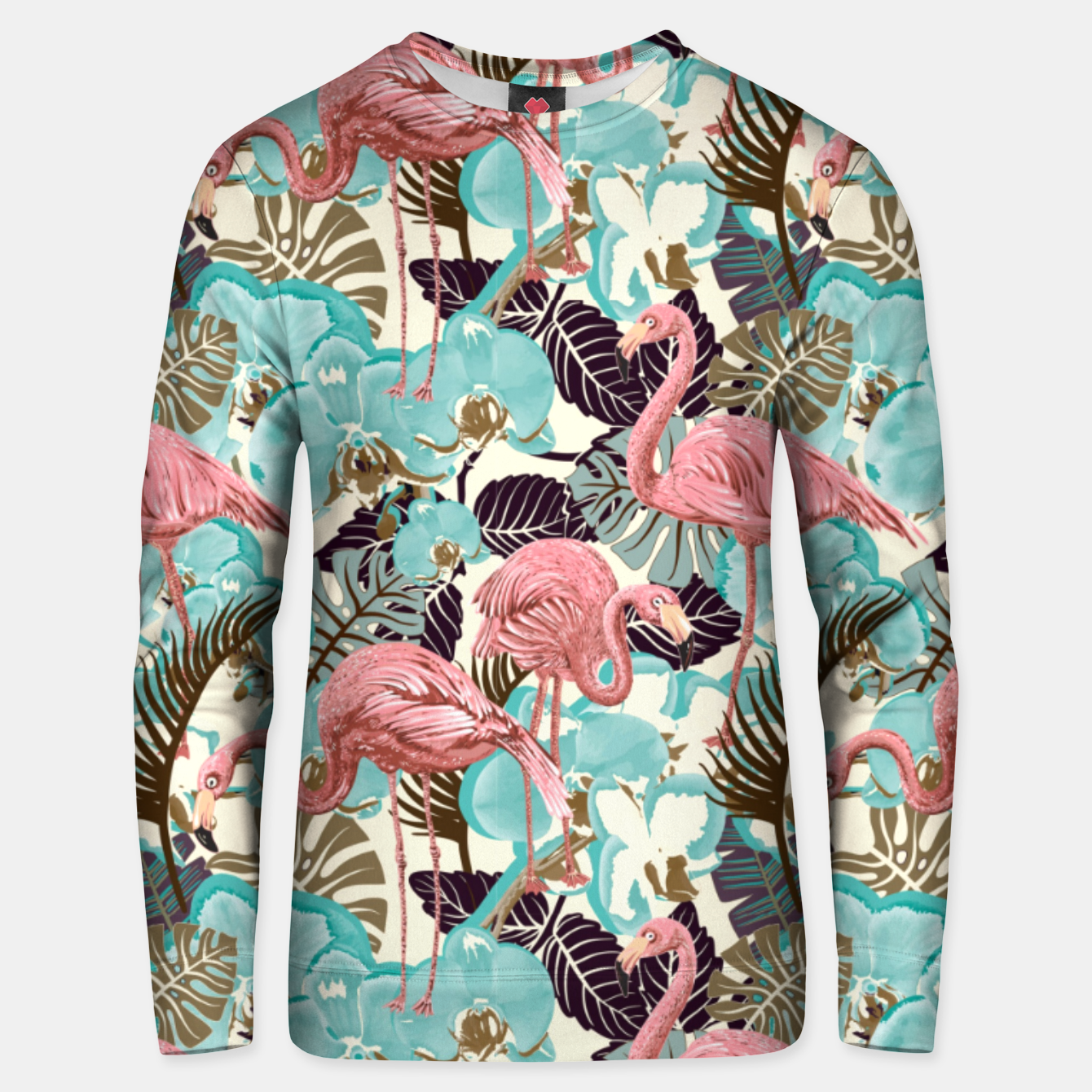 Foto Pink Flamingos Unisex sweater - Live Heroes