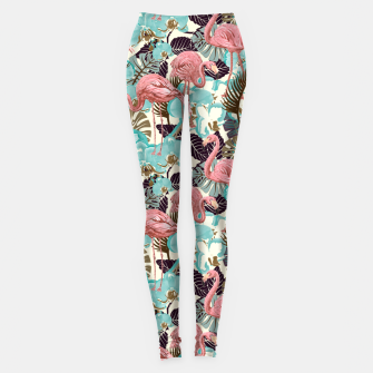 Thumbnail image of Pink Flamingos Leggings, Live Heroes