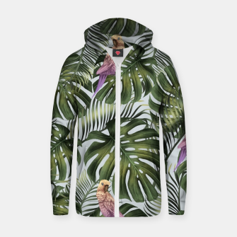 Thumbnail image of Parrots Zip up hoodie, Live Heroes