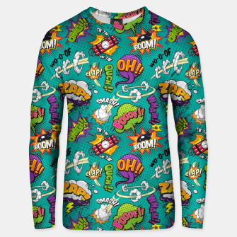 Thumbnail image of OMG Comics 7 Unisex sweater, Live Heroes