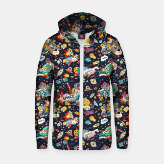 Thumbnail image of Cosmos Zip up hoodie, Live Heroes
