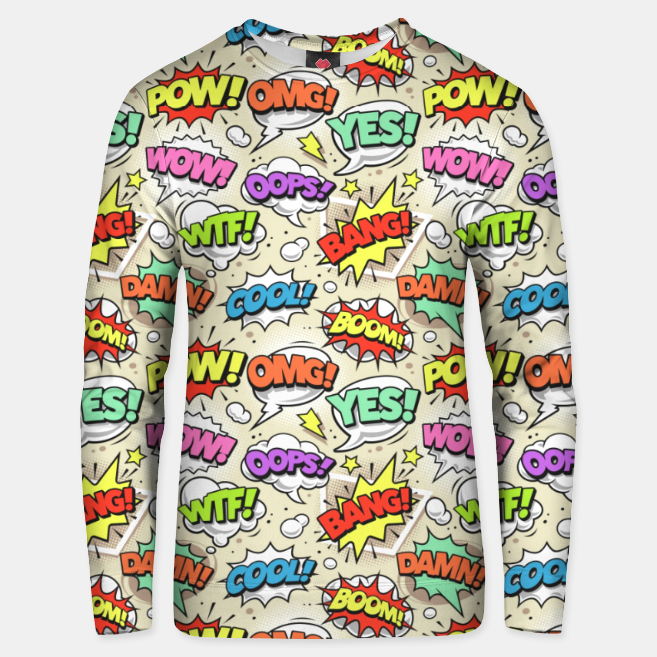 Image of OMG Comics 8 Unisex sweater - Live Heroes