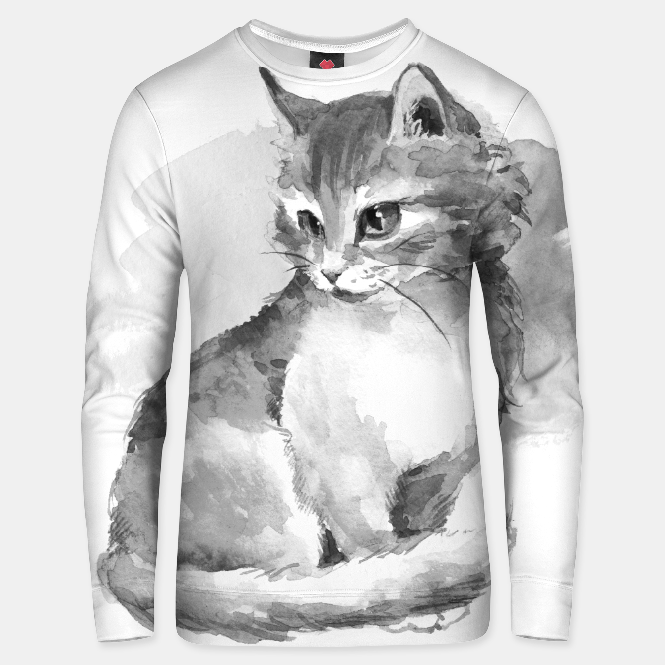 Image of Kitten. Monochrome Unisex sweater - Live Heroes