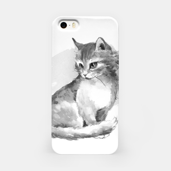 Kitten. Monochrome iPhone Case obraz miniatury