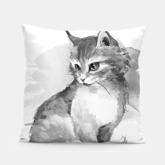 Kitten. Monochrome Pillow obraz miniatury