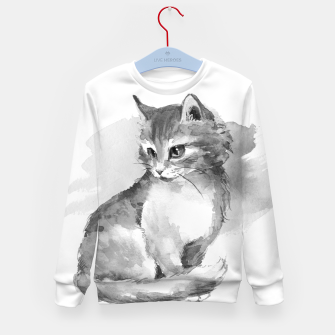 Kitten. Monochrome Kid's sweater obraz miniatury