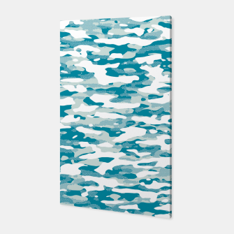 Blue Camouflage Pattern Mosaic Style Canvas thumbnail image
