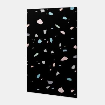 Miniature de image de Pastel Black Terrazzo #1 #decor #art  Canvas, Live Heroes