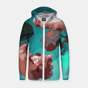 Thumbnail image of Underwater clouds Zip up hoodie, Live Heroes