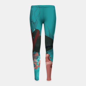 Thumbnail image of Underwater clouds Girl's leggings, Live Heroes