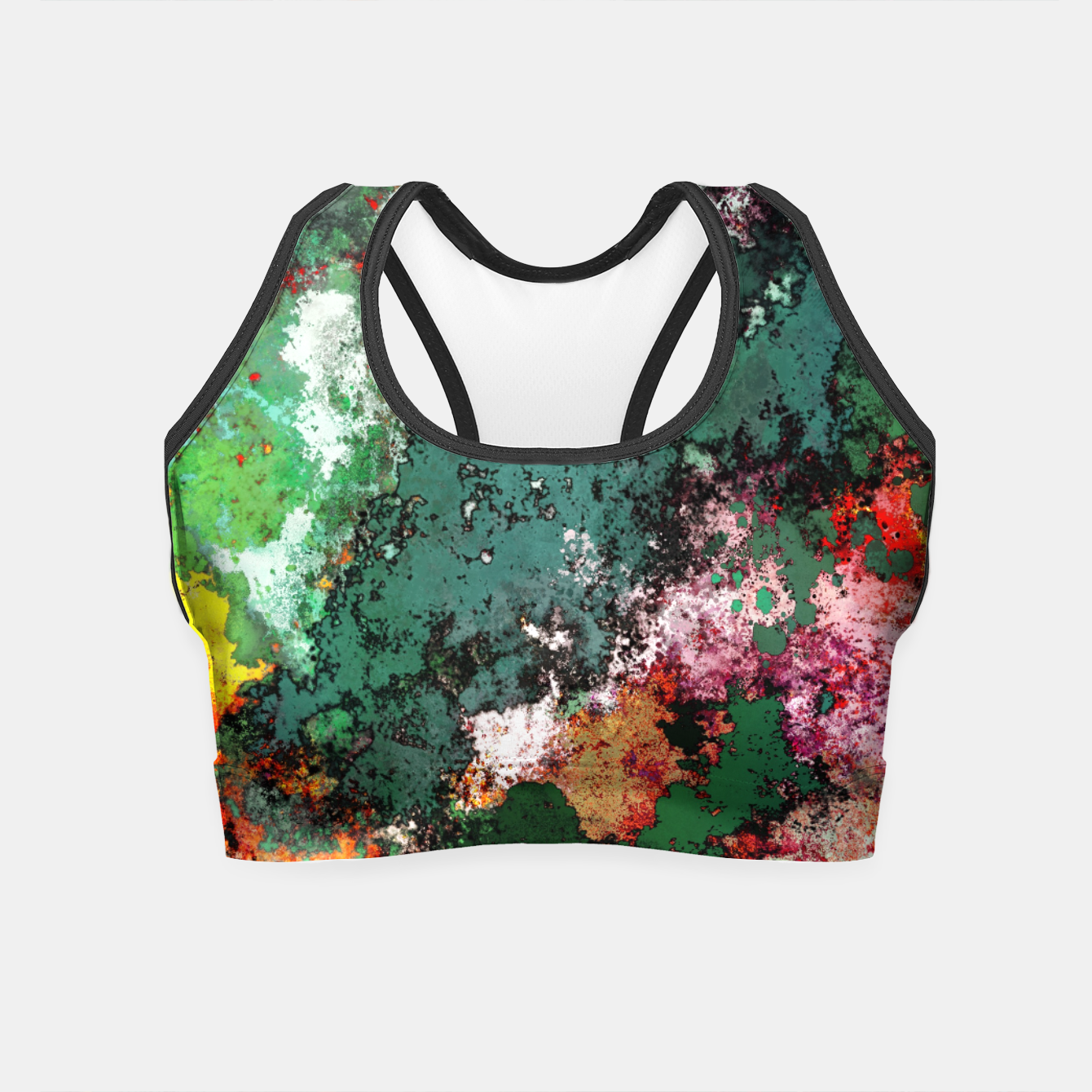 Image of Breaking through rocks Crop Top - Live Heroes