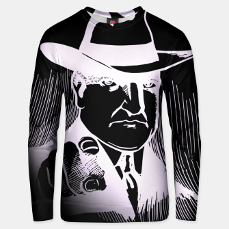 Thumbnail image of The man in the hat Sudadera unisex, Live Heroes