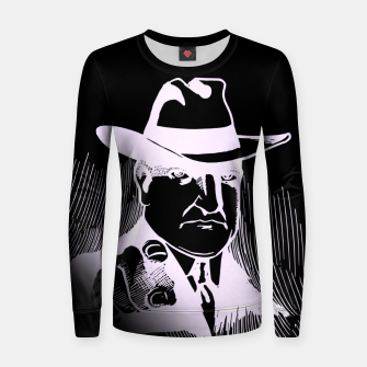Thumbnail image of The man in the hat Sudadera para mujeres, Live Heroes