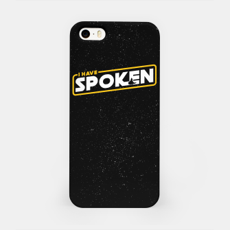 Miniatur I have spoken - The Mandalorian iPhone Case, Live Heroes