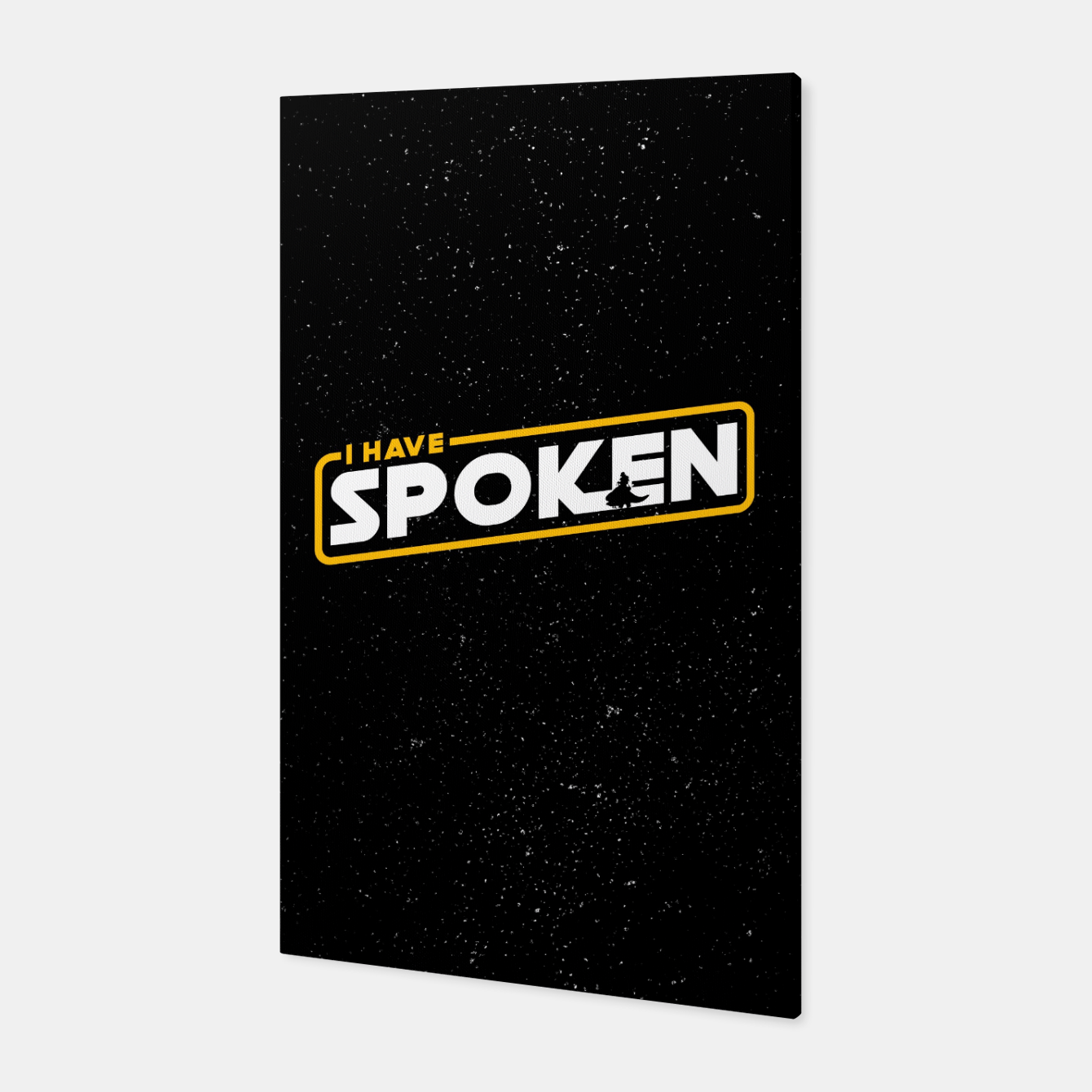 Image of I have spoken - The Mandalorian Canvas - Live Heroes