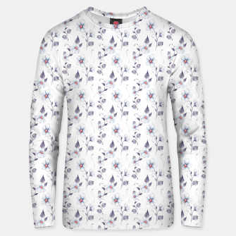 Thumbnail image of White flowers Unisex sweater, Live Heroes