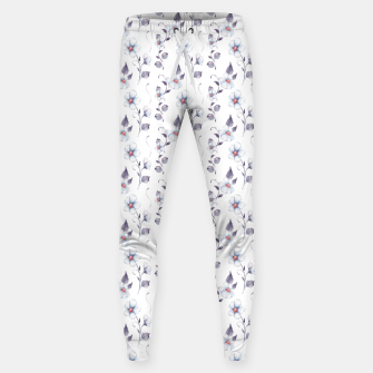 Thumbnail image of White flowers Sweatpants, Live Heroes