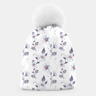 Thumbnail image of White flowers Beanie, Live Heroes