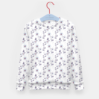 Thumbnail image of White flowers Kid's sweater, Live Heroes