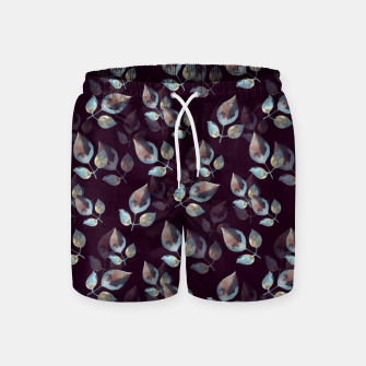 Thumbnail image of Pattern of leaves Swim Shorts, Live Heroes