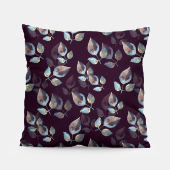 Thumbnail image of Pattern of leaves Pillow, Live Heroes