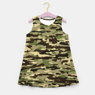 Thumbnail image of Camouflage Pattern Mädchen-Sommerkleid, Live Heroes